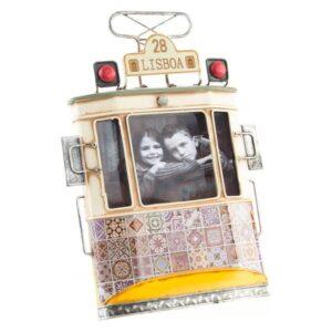Fabricado à Mão - Moldura de Fotos Dekodonia Lisboa Decoração Vintage (26 x 19 x 4 cm)