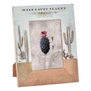 Moldura de Fotos Dekodonia Wild Cacti Beauty Madeira de mangueira (21 x 26 cm)