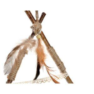 Caçador de Sonhos Dekodonia Poliéster Madeira Plumas (32 x 2 x 63 cm)