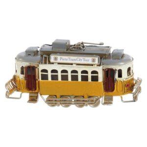 Fabricado à Mão - Veículo Dekodonia Porto Tram City Tour (14 x 4 x 8 cm)