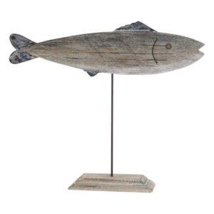 Figura Decorativa Dekodonia Madeira Metal Peixe (61 x 9 x 51 cm)