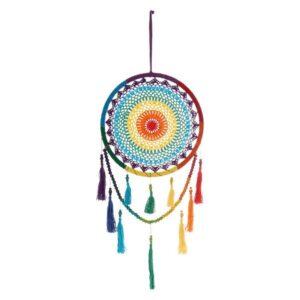 Caçador de Sonhos Dekodonia Multicolor Algodão Madeira (32 x 85 cm)