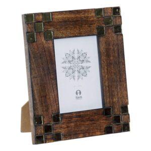 Moldura de Fotos Dekodonia Cristal Madeira de mangueira (10 x 15 cm)