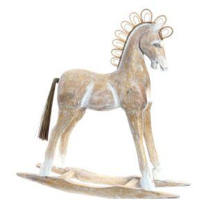 Figura Decorativa Dekodonia Cavalo Bambu Rotim Fibra (60 x 17 x 65 cm)