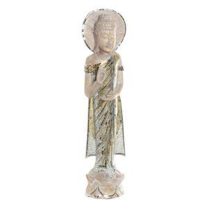 Figura Decorativa Dekodonia Bambu Cristal Buda (24 x 10 x 100 cm)