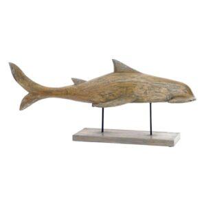 Figura Decorativa Dekodonia Metal Bambu Tubarão (95 x 22 x 40 cm)