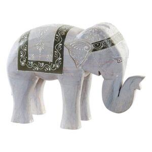 Figura Decorativa Dekodonia Madeira de mangueira Elefante (28 x 10 x 21 cm)