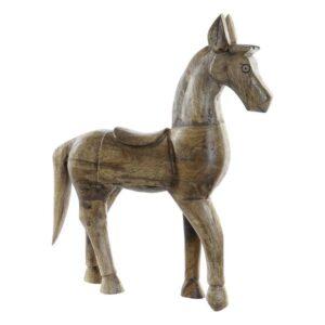 Figura Decorativa Dekodonia Madeira Metal Cavalo (37 x 9 x 46 cm)