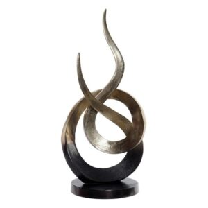 Figura Decorativa Dekodonia Deepak Alumínio (26 x 56 cm)