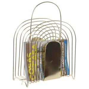 Porta Revistas Dekodonia Dourado Metal (32 x 16 x 45 cm)