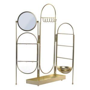 Suporte para Jóias Dekodonia Metal Espelho Chic (11 x 11 x  cm) (46 x 10 x 51 cm)