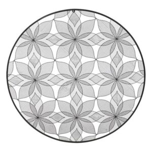 Decoração de Parede Dekodonia Metal Oriental 90 x 1 x 90 cm