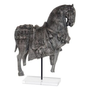 Figura Decorativa Dekodonia Acrílico Resina Ferro (33 x 14 x 50 cm)