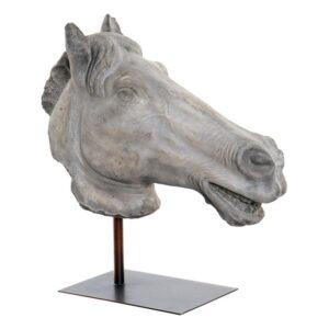 Figura Decorativa Dekodonia Cavalo Metal Resina (47 x 20 x 54 cm)