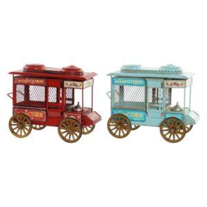 Fabricado à Mão - 2 Veículos Dekodonia Popcorn Decoração Vintage  (30 x 15 x 23 cm)