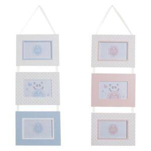 2 Molduras de Fotos Dekodonia Madeira Cristal (22 x 1 x 57 cm)
