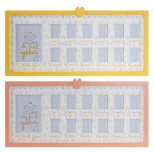 2 Molduras de Fotos Dekodonia Madeira Cristal Frango (63 x 1 x 29 cm)