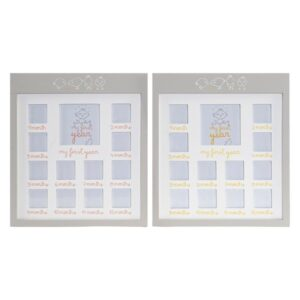 2 Molduras de Fotos Dekodonia Madeira Cristal Frango (32 x 1 x 32 cm)