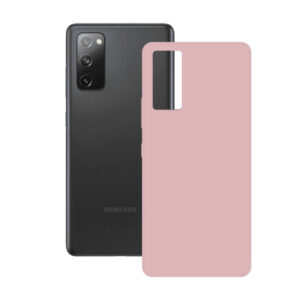 Capa para Telemóvel Samsung Galaxy S20 FE 5G KSIX Silk TPU Cor de Rosa