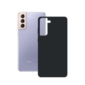 Capa para Telemóvel Samsung Galaxy S21+ KSIX Silk TPU Preto