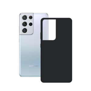 Capa para Telemóvel Samsung Galaxy S21 Ultra KSIX Silk TPU Preto