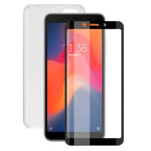Protetor de vidro temperado para o telemóvel + Estojo para Telemóvel Xiaomi Redmi 6A Contact
