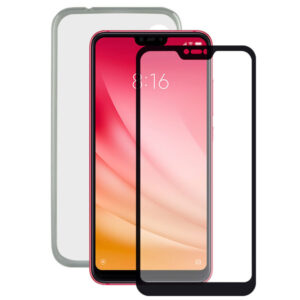 Protetor de vidro temperado para o telemóvel + Estojo para Telemóvel Xiaomi Redmi Note 6 Pro Contact