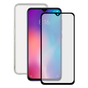 Protetor de vidro temperado para o telemóvel + Estojo para Telemóvel Xiaomi Mi 9 Contact