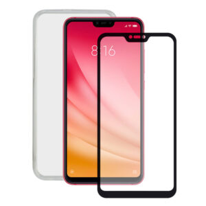Protetor de vidro temperado para o telemóvel + Estojo para Telemóvel Xiaomi Mi 8 Lite Contact