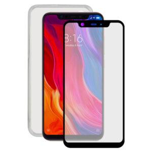 Protetor de vidro temperado para o telemóvel + Estojo para Telemóvel Xiaomi Mi 8 Contact