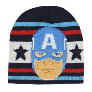 Gorro Infantil Captain America The Avengers Azul Marinho