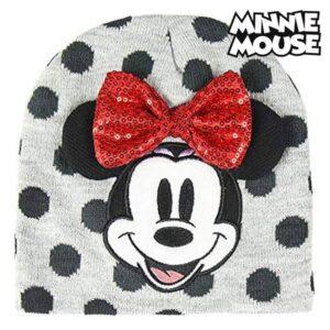 Gorro Infantil Minnie Mouse Cinzento