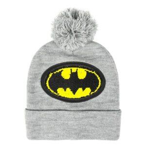 Gorro Infantil Batman Cinzento