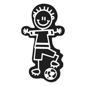 Adesivo para Carros Family Menino Bola de Futebol