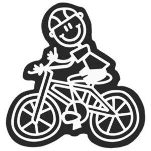 Adesivo para Carros Family Menino Bicicleta
