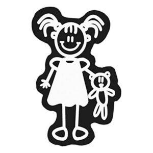 Adesivo para Carros Family Menina Urso de Peluche