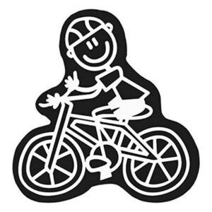 Adesivo para Carros Family Homem Bicicleta