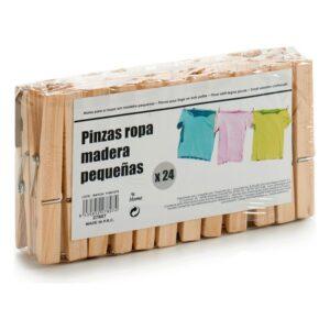 Molas da Roupa Madeira (24 Peças)