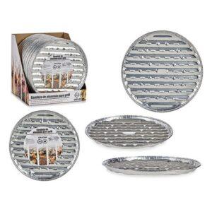 4 Jogos de Bandejas Alumínio Grill Redonda (Ø 32 x 2,5 cm)