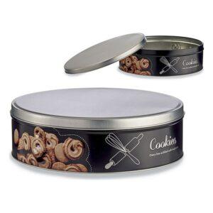 Caixa de Metal Cookies (22,5 x 7 x 22,5 cm)