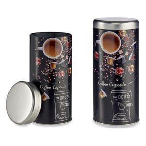 Lata de Metal Coffee Capsule (9 x 20 x 9 cm)