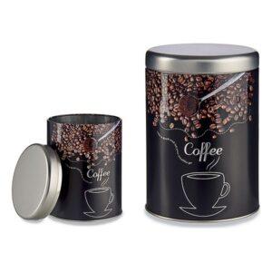 Lata de Metal Coffee (10,5 x 15 x 10,5 cm)