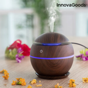 Mini-Humidificador Difusor de Aromas Dark Walnut InnovaGoods