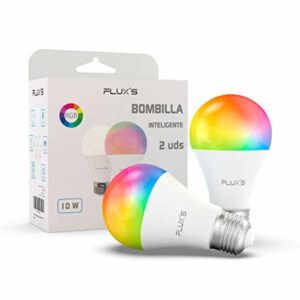 2 Lâmpada Inteligente LED Wi-fi E27 10W Multicolor