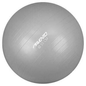 Avento Bola de fitness/ginásio 55 cm de diâmetro prateado - PORTES GRÁTIS
