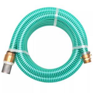 Mangueira de sucção com conectores de latão 3 m 25 mm verde - PORTES GRÁTIS