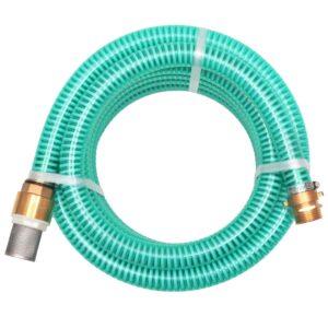 Mangueira de sucção com conectores de latão 4 m 25 mm verde - PORTES GRÁTIS