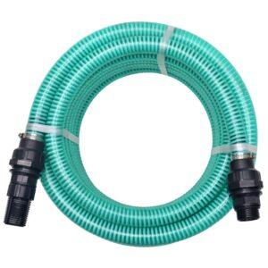 Mangueira de sucção com conectores 7 m 22 mm verde - PORTES GRÁTIS