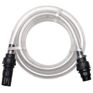 Mangueira de sucção com conectores 7 m 22 mm branco - PORTES GRÁTIS
