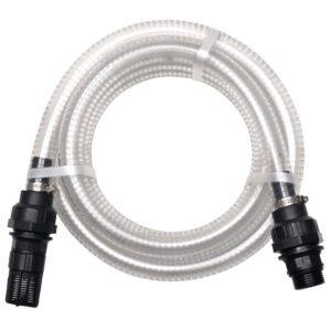 Mangueira de sucção com conectores 10 m 22 mm branco - PORTES GRÁTIS
